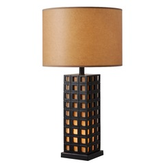Kenroy Home Nightscape Oil Rubbed Bronze Table Lamp with Drum Shade
