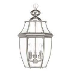 Progress Lighting New Haven Brushed Nickel Outdoor Hanging Light