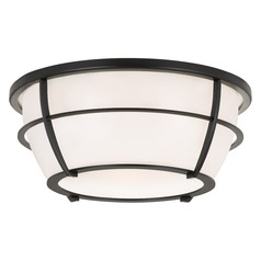 Transitional Flushmount Light Black Quoizel Fixture by Quoizel Lighting