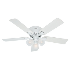 52-Inch Hunter Fan Reinert Snow White Ceiling Fan with Light