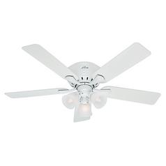 52 Inch Hunter Fan Reinert Snow White Ceiling With Light