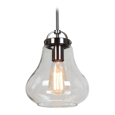 Access Lighting Flux Antique Nickel Mini-Pendant Light