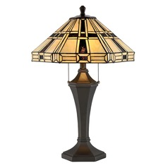 Lite Source Mircea Dark Bronze Table Lamp with Hexagon Shade
