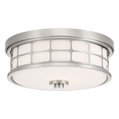 Arts and Crafts / Craftsman Flushmount Light Brushed Nickel Quoizel Fixture Quoizel Lighting