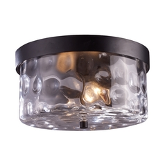 Close To Ceiling Light with Clear Glass in Hazelnut Bronze Finish