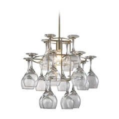 Elk Lighting Mini-Chandelier in Aged Silver Finish 14041/1
