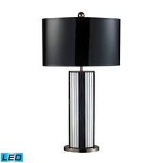 Dimond Lighting Mirrored, Black Nickel LED Table Lamp with Oval Shade