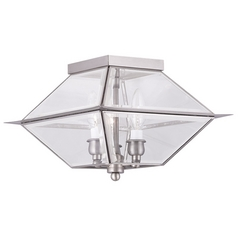 Livex Lighting Westover Antique Brass Close To Ceiling Light