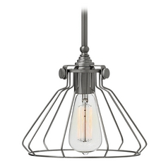 Hinkley Lighting Congress Antique Nickel Mini-Pendant Light