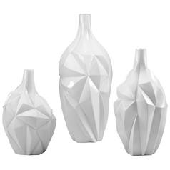 Cyan Design Glacier Gloss White Glaze Vase