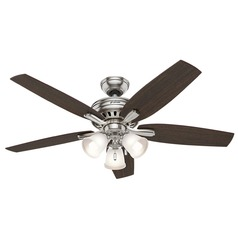 Hunter Fan Company Newsome Brushed Nickel Ceiling Fan with Light