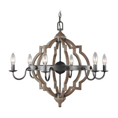 Sea Gull Lighting Socorro Stardust / Cerused Oak LED Chandelier
