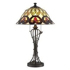 Lite Source Odetta Dark Bronze Table Lamp with Bowl / Dome Shade