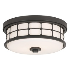 Arts and Crafts / Craftsman Flushmount Light Bronze Quoizel Fixture by Quoizel Lighting