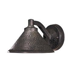 Outdoor Wall Light in Hammered Bronze Finish