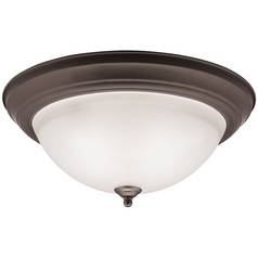 Kichler Modern Flushmount Light in Olde Bronze Finish