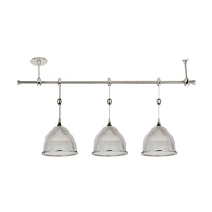 Sea Gull Lighting Pendant Light with Clear Glass in Polished Nickel Finish 94487-841