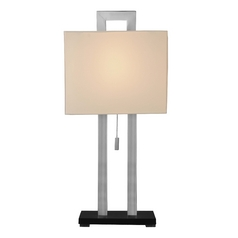 Design Classics Lighting Table Lamp with Rectangle Cutout and Square Shade 803-09/502