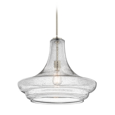Kichler Lighting Everly Brushed Nickel Pendant Light with Urn Shade