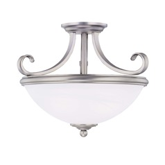 Savoy House Pewter Semi-Flushmount Light