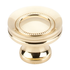 Cabinet Knob in Polished Brass Finish