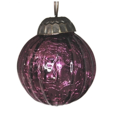 Culturas Trading Company Purple Crackle Christmas Tree Ornament - 2-Inches Wide J2P