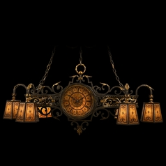 Fine Art Lamps Epicurean Charred Iron with Brule Highlights Chandelier