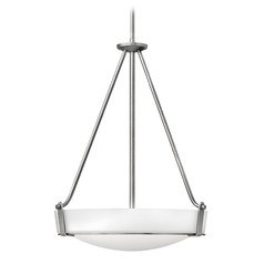 Hinkley Lighting Hathaway Antique Nickel Pendant Light with Bowl / Dome Shade