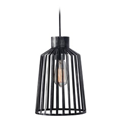 Kenroy Home Coop Aged Metal Mini-Pendant Light with Empire Shade