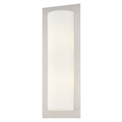 George Kovacs, Inc. Modern Sconce with White Glass in Brushed Steel Finish P563-144A