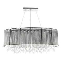 Avenue Lighting Beverly Drive Crystal Pendant with Silver Drum Lamp Shade HF1503-SILVER