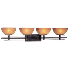 Minka Lighting Iron Oxide Four-Light Bathroom Light with Scavo Glass