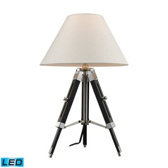 Dimond Lighting Chrome, Black LED Table Lamp with Coolie Shade