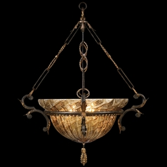 Fine Art Lamps Epicurean Charred Iron with Brule Highlights Pendant Light