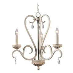 Kenroy Home Marcella Weathered White with Gold Highlights Mini-Chandelier