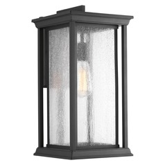 Seeded Glass Outdoor Wall Light Black Progress Lighting