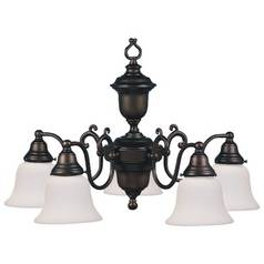 Design Classics Lighting Bronze Chandelier with Five Lights  20015-30