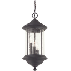 Seeded Glass Outdoor Hanging Light Black 19-1/2-inch Dolan Designs