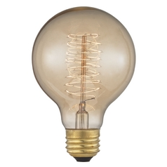 Design Classics Lighting Edison Carbon Filament G25 Light Bulb - 60-Watts 60G25 SPIRAL FILAMENT
