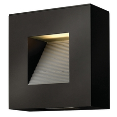 Hinkley Lighting Luna Satin Black LED Outdoor Wall Light
