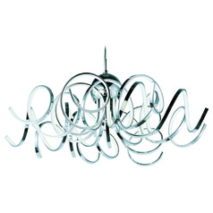 Chaos Polished Chrome LED Pendant Light