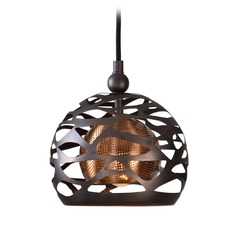Uttermost Parth 1 Light Bronze Mini Pendant