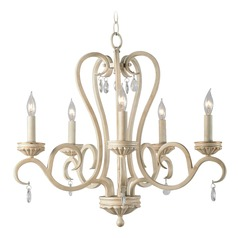 Kenroy Home Marcella Weathered White with Gold Highlights Chandelier