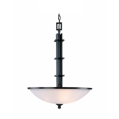 Modern Pendant Light with White Glass in Copper Finish