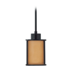 Nuvo Lighting Mini-Pendant Light with Brown Glass 60-3828