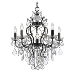Crystorama Lighting Filmore Vibrant Bronze Crystal Chandelier