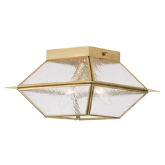Livex Lighting Mansfield Polished Brass Close To Ceiling Light