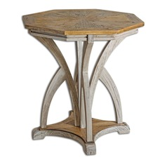 Uttermost Ranen Aged White Accent Table
