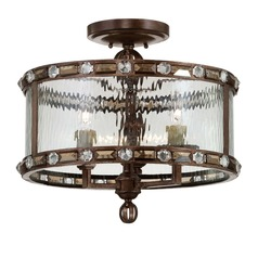 Savoy House Gilded Bronze Semi-Flushmount Light