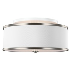 Feiss Lighting Lennon Satin Nickel Semi-Flushmount Light